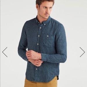 Mens button down linen shirt